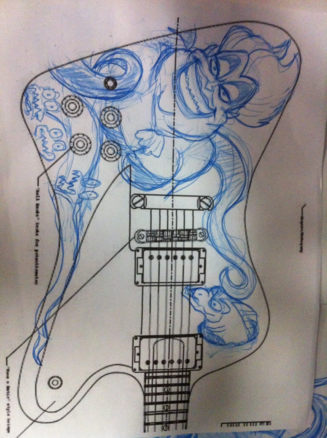 The art rough draft for the firebird!