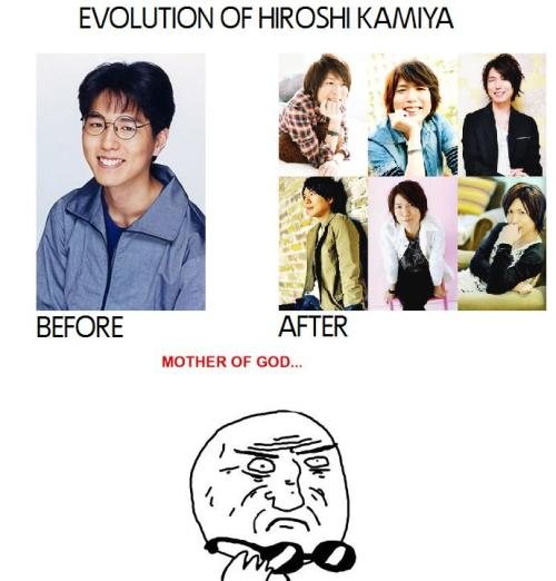 rin-loves-sukiyaki-okumura:  AWESOME. EVOLUTION. EVER. KAMIYAN, ARE YOU A POKEMON? O.O
