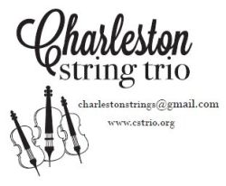 Branding for the Charleston String Trio, a cellist  and 2 violinists that primarily play weddings in the Charleston area.