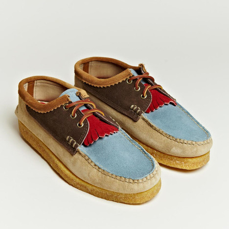 Blucher Kiltie Multi by Yuketen Crepe soles are not very hard-wearing at all, but their rugged appearance does make them more appealing than the ugly plastic looking soles that are so common nowadays.