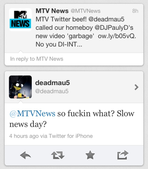 oblistique:  not-even-funny:  STFU! Mtv. The douche asked how it was… So Joel expressed his honest opinion, he was right. How is that such beef? Goddammit!    Joel is entitled to a fucking opinion tho?  also remember when they had a dig at rihanna?