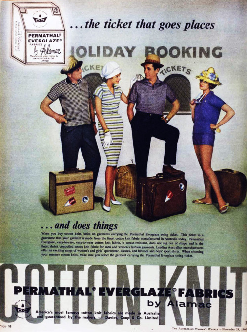Holiday fashions, 1960