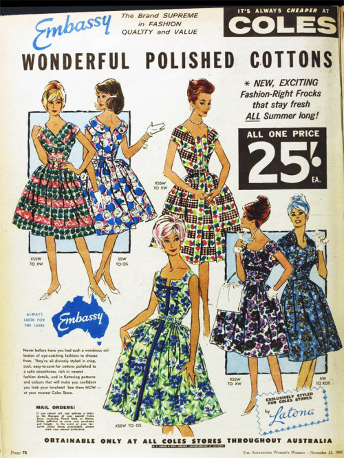 Cotton frocks, 1960