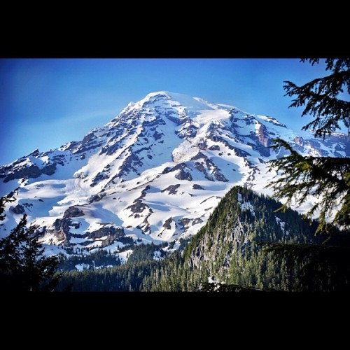 Mt. Rainier. #VolcanoTour. Nuff said.  (Taken with instagram)