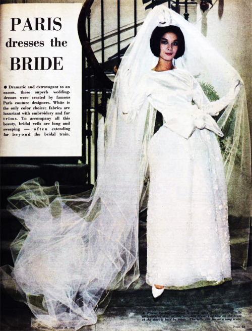 1960 Paris fashions for brides