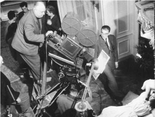 cinemastatic:  Jean Renoir on the set of The Rules of the Game
