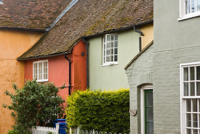 Coloured houses, Hadleigh by notcub on Flickr.