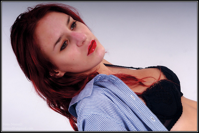 "… on Flickr.Canon 400D,  studio light, Session: 01.09.2011 r., Model: Agnieszka, Copyright © 2011 Grzesiek ""NOMAD"""
