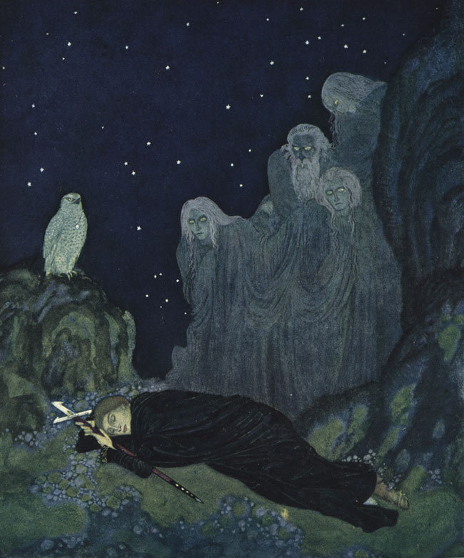 cavetocanvas:  Edmund Dulac, illustration from the Dreamer of Dreams