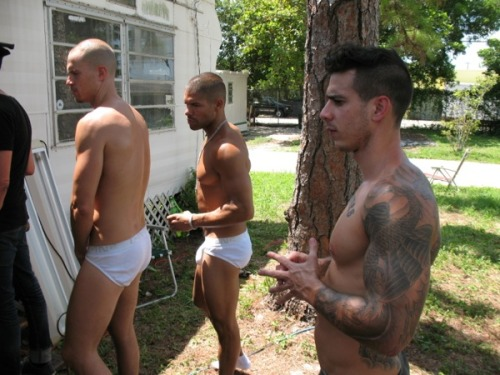 redbeardedoctopus:  (via C IN-2 Underwear Line Hangs Out in Trailer Park for Some Sexy Sleazy Shots (Photos))