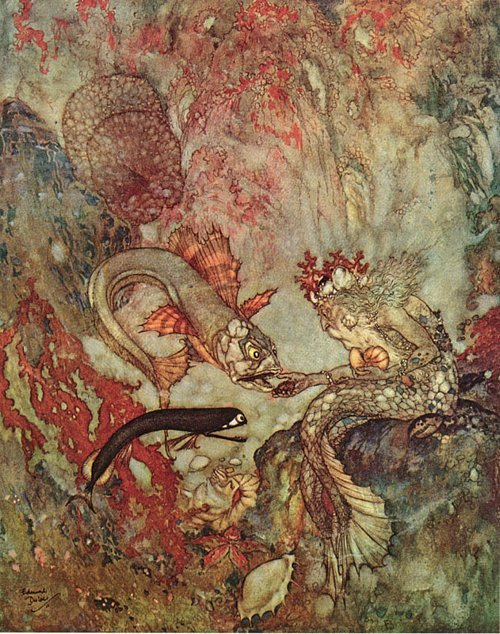 cavetocanvas:  Edmund Dulac, illustration from The Little Mermaid
