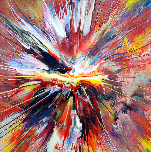 dearscience:  Liquid Explosion Painting by Mark Chadwick