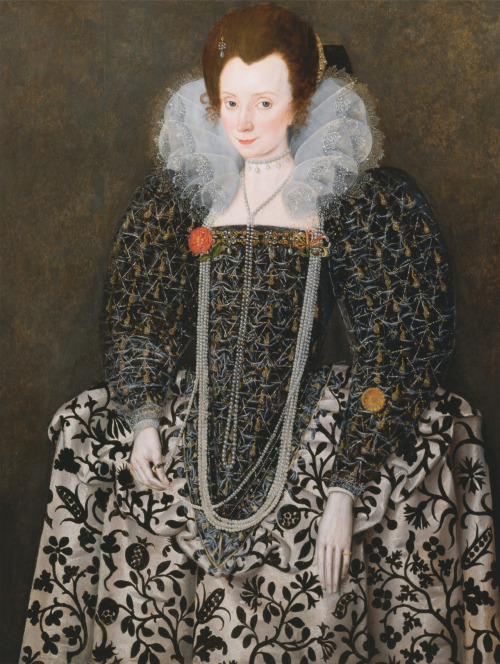 An unknown lady possibly Mary Clopton -Robert Peake ~17th century