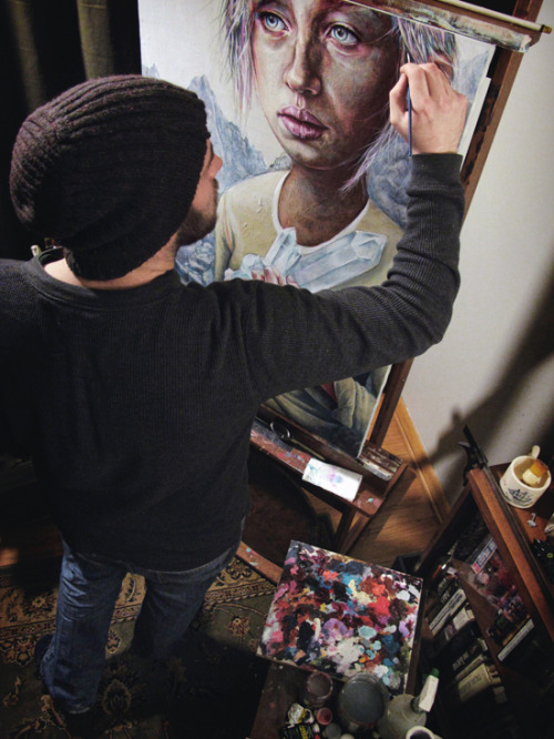 blua:  Michael Shapcott at work