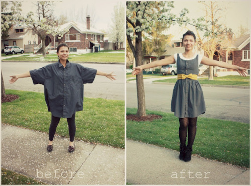DIY Men's Shirt Restyle into a Summer Dress Tutorial. I've been waiting for this tutoria ever since I saw this a while back on Swenson Love's blog. It is a reconstruction project, so it involves sewing. Tutorial from Swenson Love here.