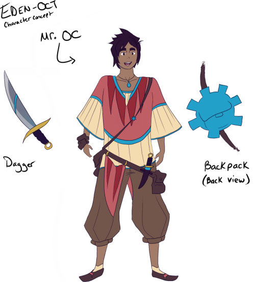 Episode 1 of Eden OCT: In which I do a terribad job at designing OCs!
