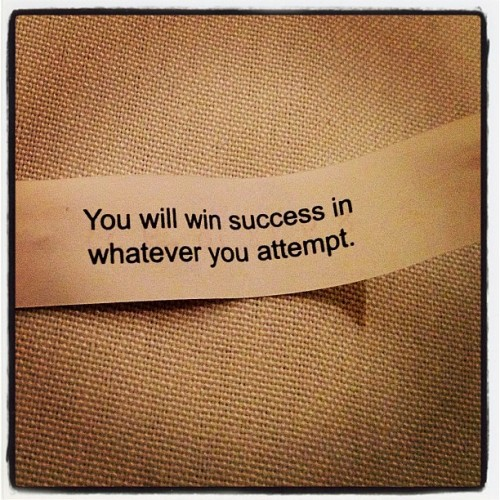 My fortune today… #straightfromthea  (Taken with instagram)