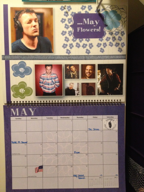 the month of MAY. thanks again to thisisveryg (best twin sister) and the beautiful face of brandon flowers :)