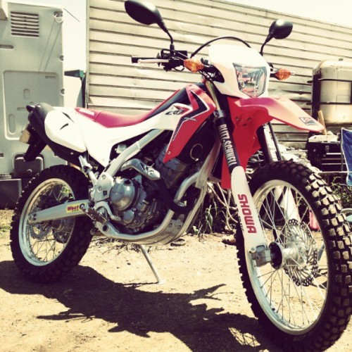 CRF250L available. Engine is same as CBR250. (Instagramで撮影)