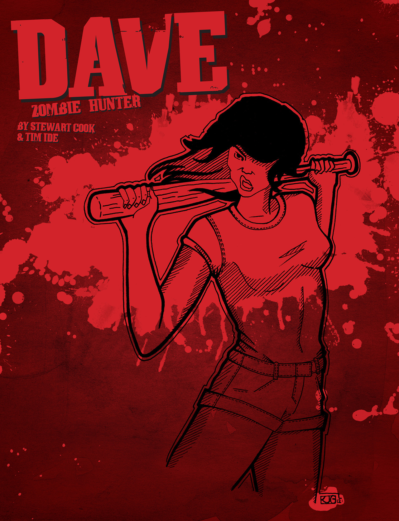 Vera, Dave's amorous girlfriend and a zombie killing machine.  Drawn by the awesome Kara Gillett