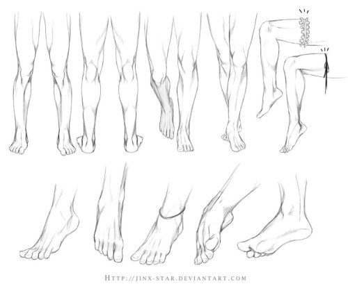 ref-pixie:  +LEGS AND FEET STUDY+ by =jinx-star
