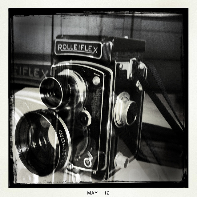 Rolleiflexamat Tele on Flickr.Via Flickr: Pretty sure I'm going to hell for this. My apologies to Mr's Franke und Heidecke