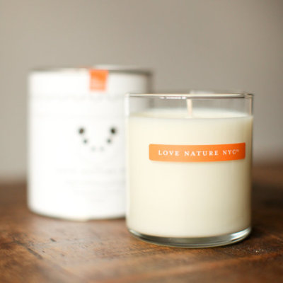 """Sweet Mandarin & Sandalwood"" Soy Candle by LoveNatureNYC"