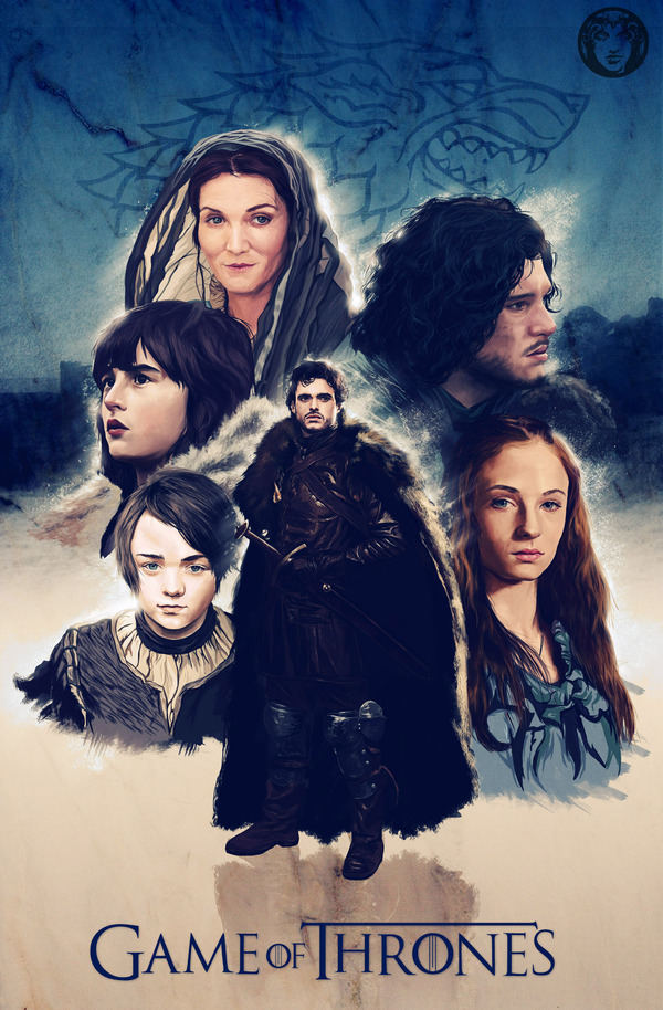 herochan:  Winter War is Coming House Stark from Game of Thrones illustrated by Giordan Casanova (via:heyoscarwilde)