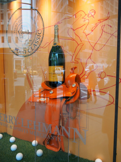 Veuve Clicquot in a NYC store window