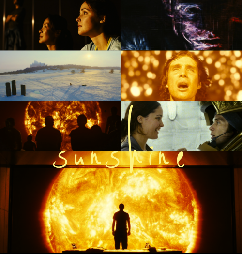 SUNSHINE (2007)Directed by Danny BoyleStarring: Cillian Murphy, Chris Evans, Rose Byrne, Michelle Yeoh, Cliff Curtis, Troy Garity, Hiroyuki Sanada, Benedict Wong, feat. Mark StrongSummary: A crew of eight men and women are nearing the end of a mission to reignite our solar system's dying sun. The point about darkness is…you float in it. You and the darkness are distinct from each other because darkness is an absence of something; it's a vacuum. But total light envelops you. It becomes you.  Why we chose it: Chris Evans (in this interview) referenced Sunshine as a movie he was proud to have been a part of. Becca and I enjoy his face—Becca especially—and since we are both on summer break without much opportunity to ogle at gorgeous human beings in real life, face-enjoyment seemed an entirely appropriate reason to watch this movie. What we did not expect was for it to rip our hearts out of our chests and literally throw them into the sun. How we felt about it: This movie was not okay, in two very different ways. First of all, it was not okay in the sense that it devoured our souls, chewed them very slowly, then spit them out and put them haphazardly back together again. Secondly, it was not okay in the sense that no one could ever refer to a movie this evocative as simply okay. The mission these characters are on seems hopeless from the first (spoiler, hover to view), but both me and Becca ended up loving them quickly enough to be horrified when things inevitably took a turn for the worse. How we rate it: Click here for an overview of how our ratings work! Originality: 5/5 TwigmenWriting: 4/5 TwigmenCinematography: 4/5 TwigmenEffects: 4/5 TwigmenActing: 4/5 TwigmenStory: 4/5 TwigmenForeboding Sense of Impending Heartbreak: 9/5 Twigmen NOTE: We will not supply links for the streaming or download of the movies we review. Any and all asks we receive asking for links will be promptly deleted. Finally, we here at TwigmanOscar want your viewing experience to be as safe as it is enjoyable. We supply a list of trigger warnings for every film we review. If you've seen the film already and feel we've left something out, feel free to let us know! (You're also welcome to stop by and just talk to us about the film!)