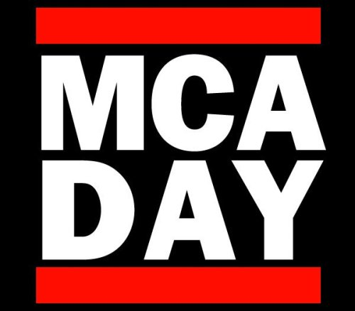 One last shout out for MCA Day before the big event in New York City tomorrow, Saturday May 19 (11am @ Union Square). Info on Facebook & Twitter. Organizers are asking for song requests and playlist links.   From the Facebook page:    BBoys and BGirls: Take a minute tonight and marinate on what Adam Yauch meant to you. Show up to the park tomorrow ready to share that. Appreciation is the currency of MCA DAY, spend it often. Fans, dancers, DJ's, MC's, artists, grandparents, cab drivers, suits and astronauts— roll down to Union Square tomorrow to share a memory, spin a track, bust a move, show a tattoo, shake a hand, spread a message and show some love on this day, for the one, the only…MCA.