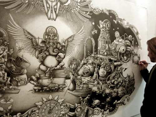 Joe Fenton - Illustration. The details are mind boggling :o