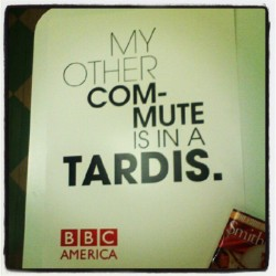 New BBC/Doctor Who poster now in my possesion! Courtesy (albeit unwillingly) of Metro North railroad. (Taken with instagram)