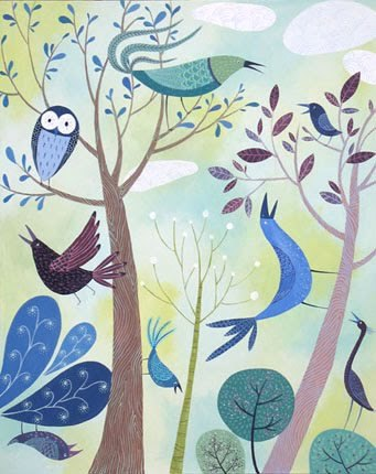carnetimaginaire:  Tracie Grimwood, Birds in trees