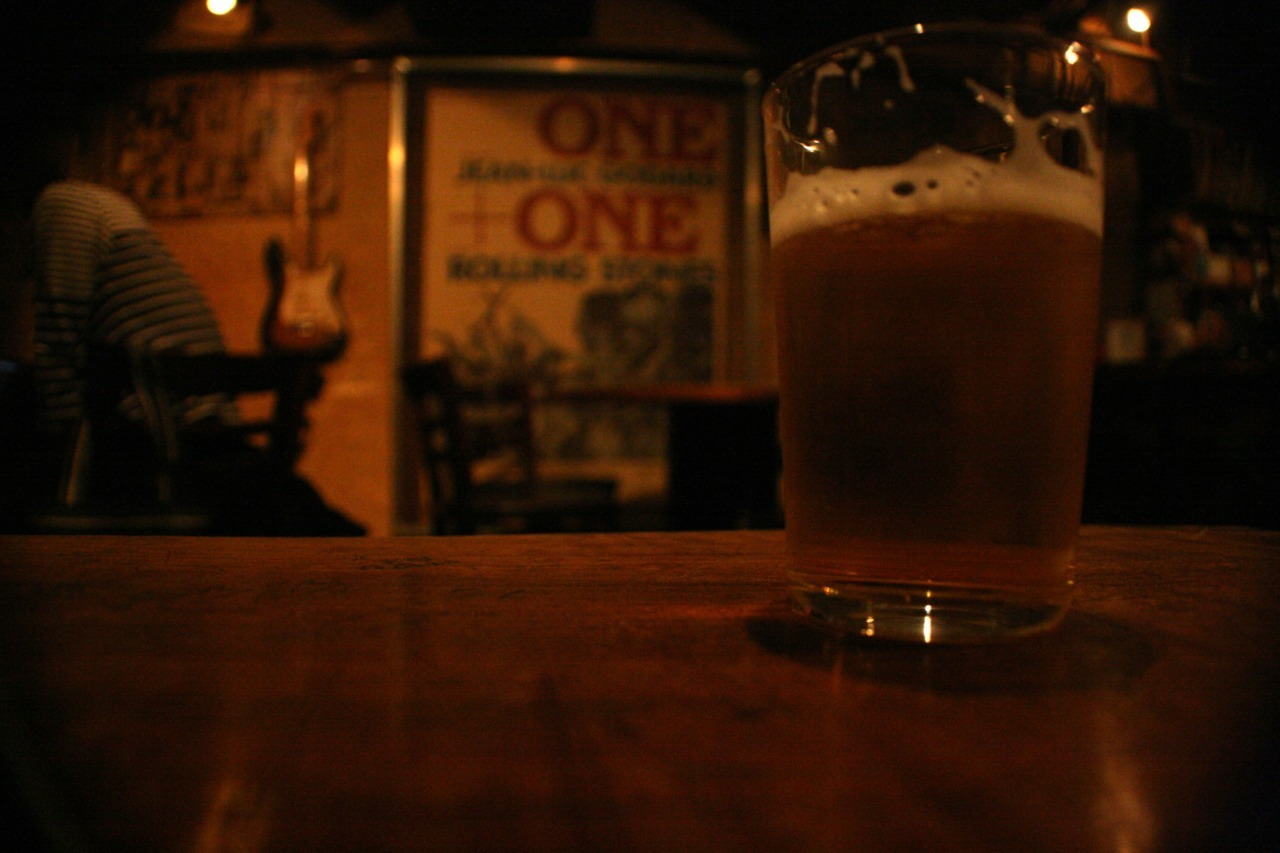 Drinking it better at BAR ING, Kyoto, Japan (May 9, 2012). Sebastian said it was a dive bar. I disagree. I think it's my kind of place. Maybe it is a dive.