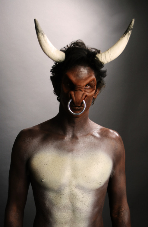 makeupftw:  Minotaur makeup