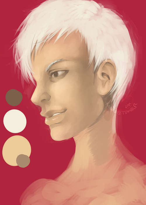 Digital Painting Studies: I'm still trying to learn how to digitally paint. Not totally aiming for realistic, just focusing on relying less on using lines. Only reference used was for the ear… Seems I can't find decent reference art that isn't from google image search… [heh]Although I saw a bunch of resources going around with great references for artists, can anyone point me in the right direction?