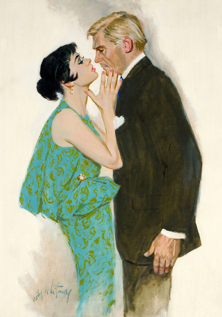 "mudwerks:  Coby Whitmore (by oldcarguy41)  This painting appeared with the story ""The Scapegoat"" in the Ladies Home Journal in January 1957."