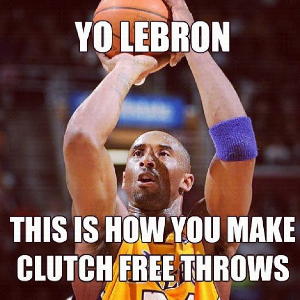 Cold Blooded! #kobe #clutch #kloser #lakers #lakeshow #nba #meme (Taken with instagram)