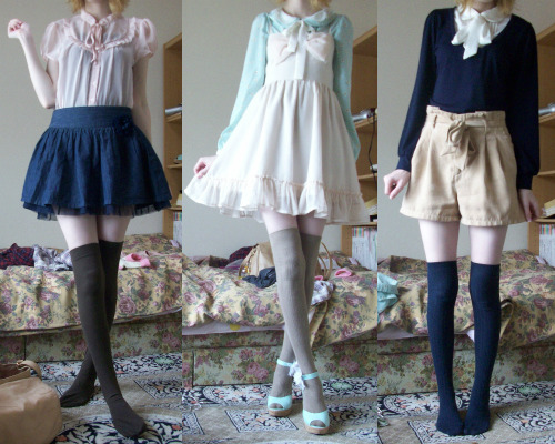 mintkismet:  outfits from the past three days~