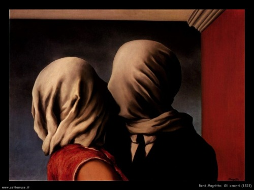 """The Lovers"", by René Magritte, 1928."