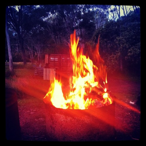 Keeping it warm#beautiful #instagood #iphonography #australia #ig #instahub #nofilter #tropical #queensland #fire (Taken with instagram)