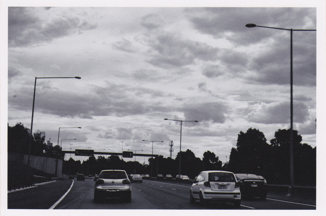 Eastern Freeway Pentax 738 Rollei Retro 100