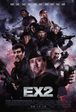 …I could see this. This summer, Nicolas Cage IS The Expendables. All of them.