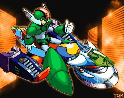 A moment of silence for the legendary reploid, Green Biker Dude. He died with honor, performing an awesome wheelie. H