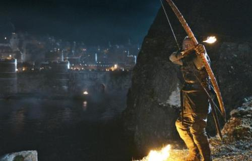 Blackwater battle! Song of Fire! Sneak peak shot. Bronn on the mission.