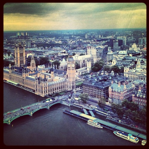 View from above (Taken with Instagram at The London Eye)