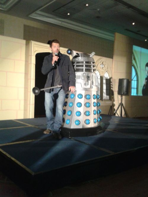 mostly10:  misha with a dalek (x)