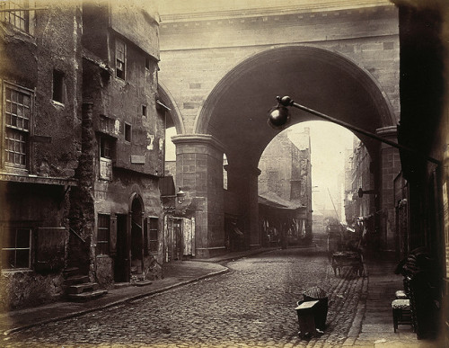 Cowgate Arch of George IV Bridge, Edinburgh, 1860