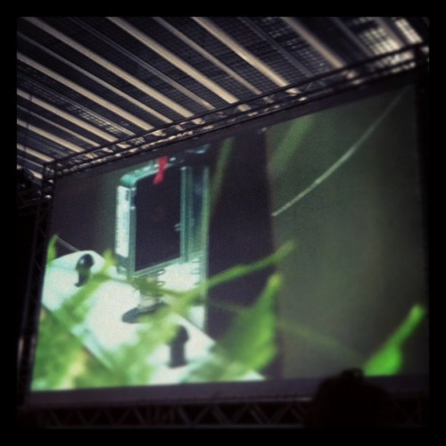 Great sound interactive installations by Found at #offfbcn !!!! (Taken with instagram)